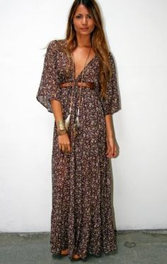 The Bohemian Dress - DRESSES - Shop Online  .boho dress. bohemian fashion..  www.volaga.com
