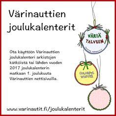 Värinauttien joulukalenteri, sopii kotiin, kerhoon ja kouluun! Xmas, Christmas, Advent Calendar, Halloween, Words, Yule, Yule, Christmas Movies, Christmas Movies