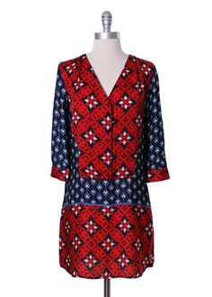 Scarf Print Tunic Dress by Collective Concepts