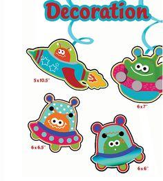Space Aliens Party Decoration,  Printable Birthday Decor