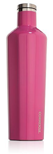 Corkcicle Canteen - Water Bottle and Thermos - Keeps Beverages Cold for Over 25, Hot for Over 12 Hours - Triple Insulated with Shatterproof Stainless Steel Construction - Pink - 25 oz. * Click image to review more details.