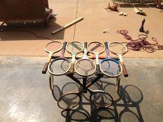 Tennis Racquet Coffee Table. $500.00, via Etsy.
