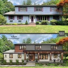 House Siding, House Paint Exterior, Facade House, Exterior Houses, Home Exterior Makeover, Exterior Remodel, Modern Exterior, Exterior Design, Exterior Siding Options
