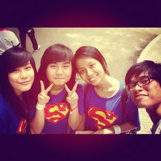 Somebody called us 'superman team' fun day yesterday <333