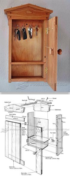 DIY Key Cabinet - Woodworking Plans and Projects | WoodArchivist.comhttp://woodarchivist.com/3658-diy-key-cabinet/