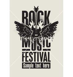 Rock music vector on VectorStock