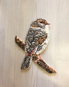 Pebble art   Bird