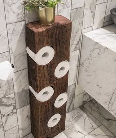 Toilet paper holder😍 ✔Get woodworking plans that comes with step by step instructions and detailed photos. 💥Over woodworking plans With CAD/DWG software to view/edit plans High quality. Diy Furniture Plans Wood Projects, Woodworking Furniture, Fine Woodworking, Woodworking Projects Plans, Woodworking Videos, Woodworking Beginner, Reclaimed Furniture, Woodworking Blueprints, Woodworking Store