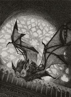 The Bat Rider Art Print - Audrey Benjaminsen All Bat, Street Art, Art Nouveau, Paris Pictures, Creatures Of The Night, Gothic Art, Gothic Steampunk, Halloween Art, Halloween Images
