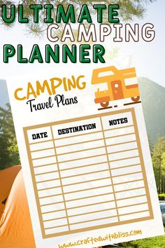 Ultimate Camping Planner Camping Meal PlannerCamping | Etsy Grocery Checklist, Camping Checklist, Camping Essentials, Camping Games, Camping Activities, Survival Life Hacks, Survival Quotes, Survival Prepping, Survival Skills