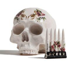 Skull 350 - © SCORPION FLORAL PORCELAIN SKULLS - THRILLS X DAN ELBORNE