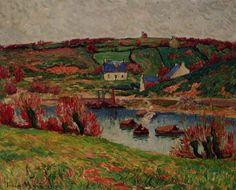 Le fleuve Douaelan-sur-Mer, huile sur toile de Henri Moret (1856-1913, France)