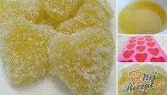 Pomerančové želé bonbóny | NejRecept.cz Nutella Brownies, Orange Recipes, Something Sweet, Glass Of Milk, Sweets, Sugar, Candy, Smoothie, Fruit