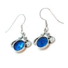 Hey, I found this really awesome Etsy listing at https://www.etsy.com/il-en/listing/233350815/blue-round-roman-glass-earrings-bohsmian