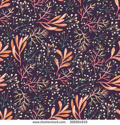 Seamless floral background pattern. Decorative vector backdrop for fabric, textile, wrapping paper, card, invitation, wallpaper, web design. - stock vector