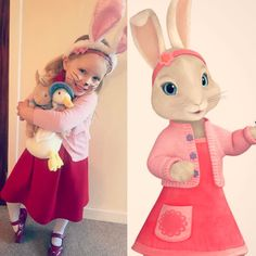 So I had forgot world book day was today, I thought it was next week 🙊 So in a quick whirlwind rush this morning wee H is now going to nursery as Lily Bobtail her favourite (thankfully) from peter rabbit. World Book Day Outfits, World Book Day Ideas, World Book Day Costumes, Book Week Costume, Diy Girls Costumes, Dress Up Costumes, Costume Ideas, Book Costumes, Kids Book Character Costumes