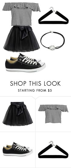 """""""Gingham - M's Outfit"""" by zeebanaeem on Polyvore featuring Little Wardrobe London, Boohoo, Converse and Alex and Ani"""