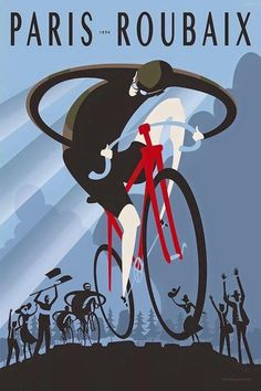 Roubaix & Michael Valenti & Premium Poster The post Roubaix & Michael Valenti & Premium Poster appeared first on Trendy. Cycling Art, Cycling Bikes, Road Cycling, Cycling News, Cycling Quotes, Cycling Jerseys, Road Bike, Retro Poster, Vintage Posters