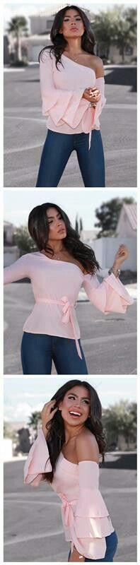 Stylish One Shoulder Layered Sleeve Blouse $21.99 Description  size: S,M,L,XL color:Pink/Black/White pattern:Patchwork neckline:Skew Neck  material:Polyester style:Fashion  sleeveLength:Long Sleeve  P.S ALL THE SIZE ARE FOLLOWED BY ASIAN STANDARD  Package Include: 1*Woman Blouse Note: There might be 2-3% difference according to manual measurement. Please check the measurement chart carefully before you buy the item.  +Please note that slight color difference should be acceptable due to the…