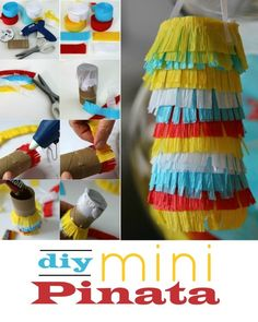 Throwing a Mini Birthday Party |DIY Mini Pinata | More creative ideas on TodaysCreativeLife.com