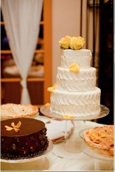 Fun frosting wedding cake