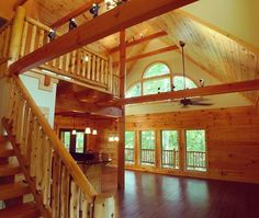 Cumberland Cove Log Home constructed by Sunset Builders LLC of Crossville TN.
