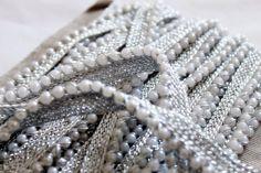 Moti Pearl bead Sari Border Trim Tassel lace by NirmanSupplies