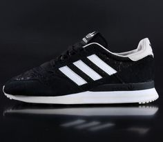Trendy Womens Sneakers 2017/ 2018 : adidas Originals ZX 500 W  Black / Running White  Bliss
