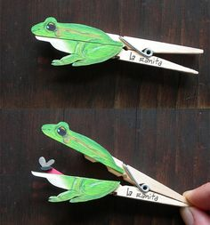 Frog Craft.....made from clothespin!