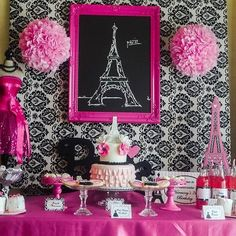 High Fashion Dessert Table... Pretty with color beside pink or with pink for lingerie shower
