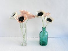 1 piece of paper anemone paper flowers anemone by MyrtleAndQuince