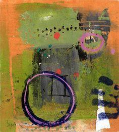 circles ~ monoprint ~ by mitch lyons