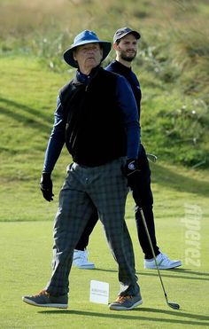 Jamie golfing in Scotland with Bill Murray the other day