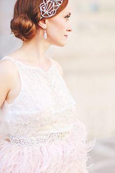 Dress Kelly Faetanini, hair piece Jaxie Bridal