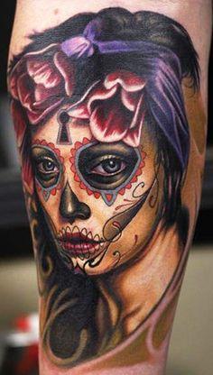 Realism Muerte Tattoo by Nikko Hurtado | Tattoo No. 8481