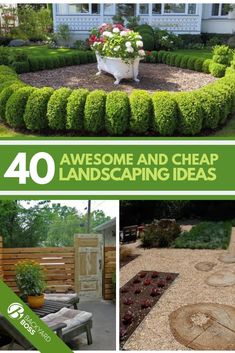 40 Awesome and Cheap Landscaping Ideas: is Too Easy! Do you want to spruce up your yard but have Cheap Landscaping Ideas, Landscaping Supplies, Home Landscaping, Front Yard Landscaping, Landscaping Design, Backyard Ideas, Garden Ideas, Hydrangea Landscaping, Backyard Plants
