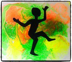 bricolage afrique, danse petit africain, peinture fluo