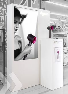 Dyson Supersonic Hairdryer Display made by ARNO