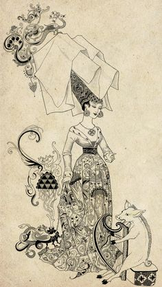Weird and Wonderful: fairy-tale illustrations by Sveta Dorosheva, via Behance