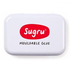This lovely and handy tin can be refilled forever and is great for keeping your Sugru neatly in one place, in the fridge or taking with you on the go. Made from glossy white metal inside and out, the lid is hinged and it can be filled with up to 8 Single Use packs of Sugru.