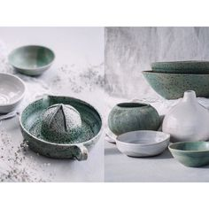 """Roz McIntosh on Instagram: """"Green and white would have to be my favourite colour combo and these works by @l_h_ceramics have hit the nail as far as I'm concerned. I…"""""""