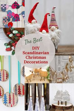 The best DIY Scandinavian Christmas decorations and crafts. From hearts, to gnomes and nature inspired simple ornaments and decorations. Scandinavian Christmas Decorations, Holiday Decor, Holiday Fun, Gnomes, Ornaments, Crafts, Diy, Decor Styles, Good Things
