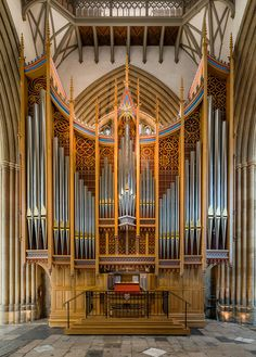 The organ of Merton College Chapel, Oxford (2013)