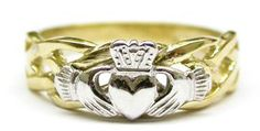 I have this exact Claddagh ring...bought it in Galway, Ireland.  It's definitely one of my favorite things. <3