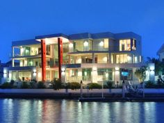 7 Bedrooms, 9 bathrooms,15 car garage    http://www.realestate.com.au/property-house-qld-sovereign+islands-107159282