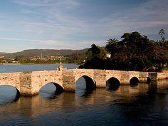 Ponte romana entre Baiona e Nigrán. Galicia. Spain.