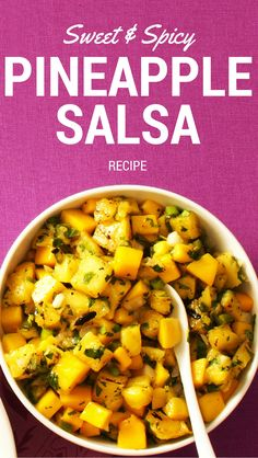 Sweet & Spicy Pineapple Salsa Recipe from Taste of Home | This quick salsa recipe is a perfect topping for pork or chicken.