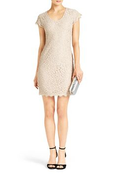DVF | Wanda Dress In Nude, Spring Trend #EMBRACELACE http://on.dvf.com/PI0314132