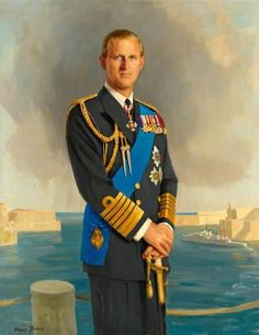vickievictoriana: Portrait of Prince Philip, the Duke of Edinburgh, Prince Consort of Queen Elizabeth II