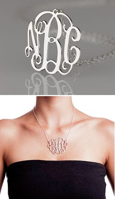Personalized Monogram Necklace #christmas #gift #present